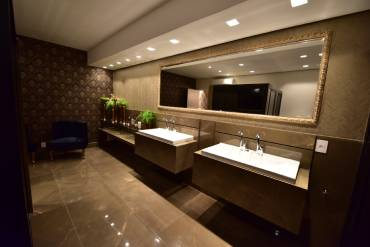 Banheiros com ar condicionado